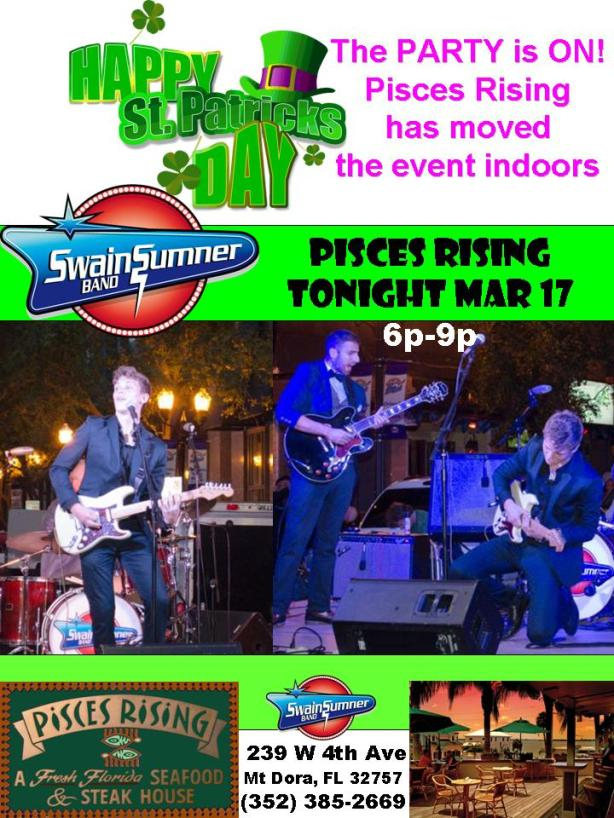 St Patricks Day Swain Sumner Band at Pisces Rising 031714