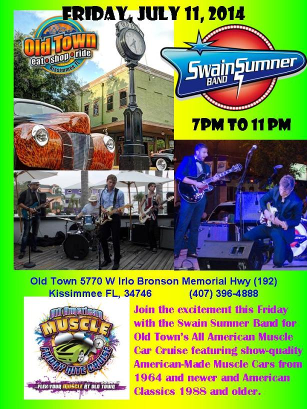 Swain Sumner Band at Old Town Kissimmee Florida 071114